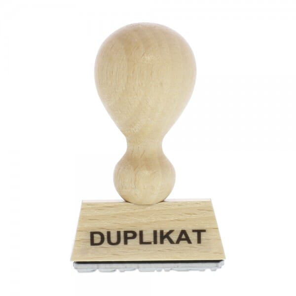 Holzstempel DUPLIKAT (40x10 mm - 1 Zeile)