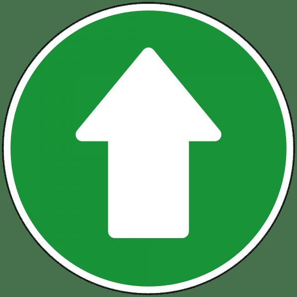 """Fußbodenaufkleber - Bodenmakierung """"Durchgang frei"""" (300x300 mm)"""