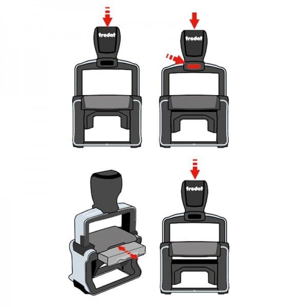 Trodat Professional 5200 MCI (41x24 mm - 5 Zeilen)