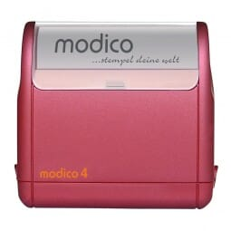 AKTION - Modico M4 rot (57x20 mm - 5 Zeilen)