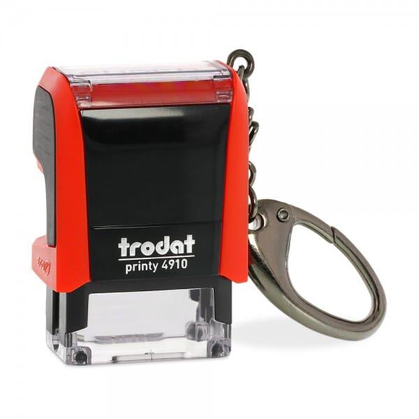 Trodat Printy 4910 mit Schlüsselanhänger (26x9 mm - 3 Zeilen)
