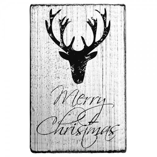 "Vintage Stempel ""Merry Christmas"" - Hirsch"
