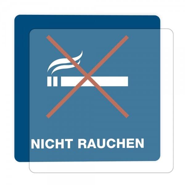 3 Stück Hinweis-Hinterglasaufkleber - Nicht Rauchen (150x150 mm)