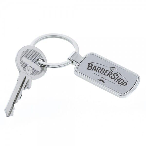 Schlüsselanhänger Barrel in einer Geschenkschachtel (Gravurmaß 35x15 mm)