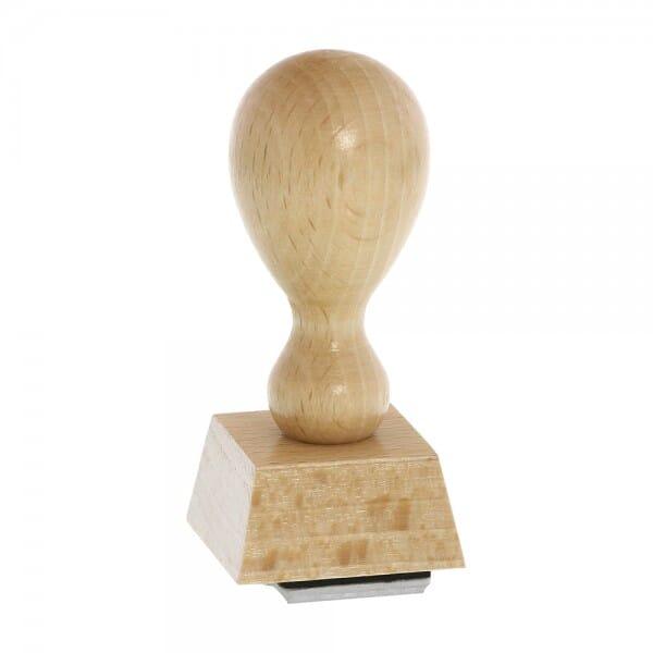 Holzstempel (30x30 mm - 6 Zeilen)