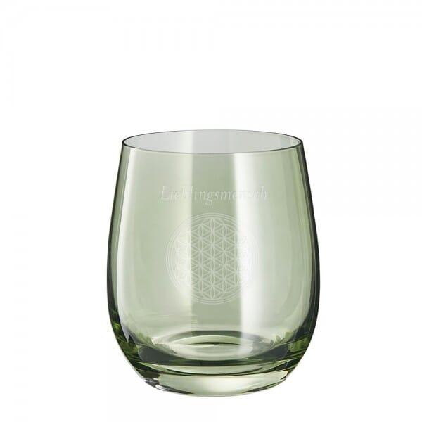 """Lasergraviertes Glas klein """"Lieblingsmensch"""" - Leonardo®"""