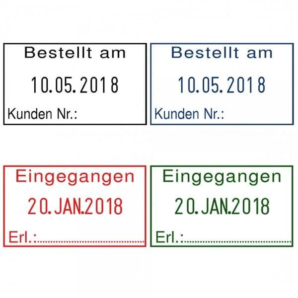Reiner Datumstempel D28b mit Textplatte (35x20 mm)