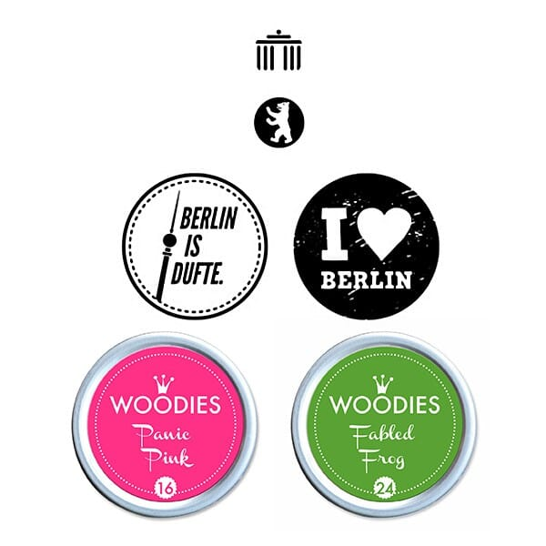 Woodies Stempel SET - Berlin WS0009