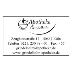 Apothekenstempel Holzstempel / Colop Printer 35 (50x30 mm - 6 Zeilen)