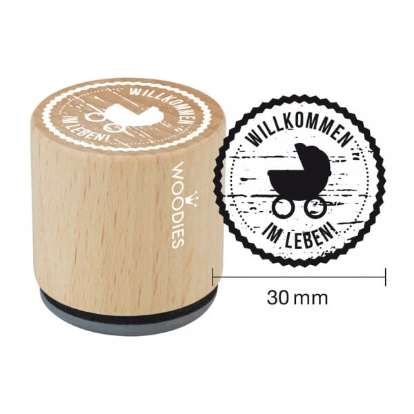 Woodies Stempel - Willkommen im Leben W06008