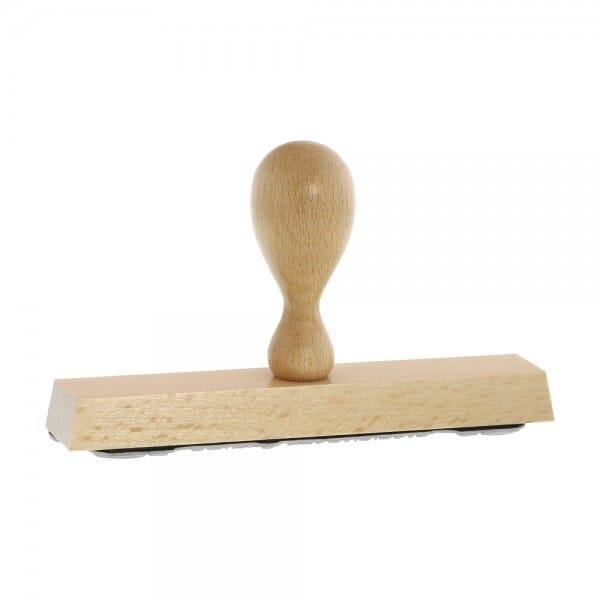Holzstempel (150x30 mm - 6 Zeilen)
