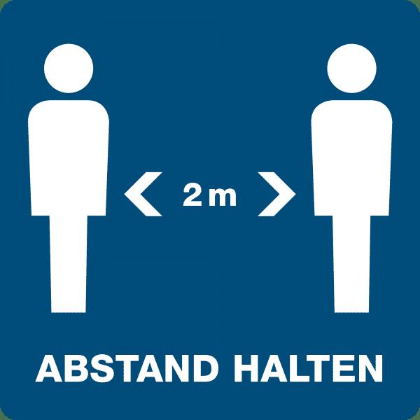 3 Stück Hinweis-Aufkleber - Abstand halten (150x150 mm)