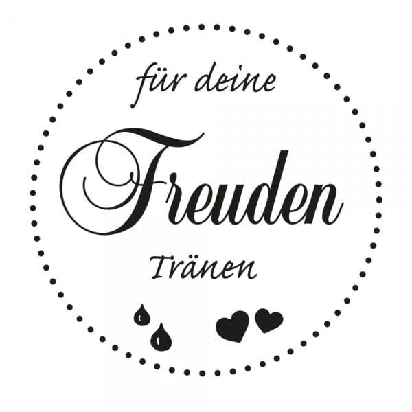 Hochzeitsstempel - Freudentränen - Herzen 2 (Ø 40 mm)