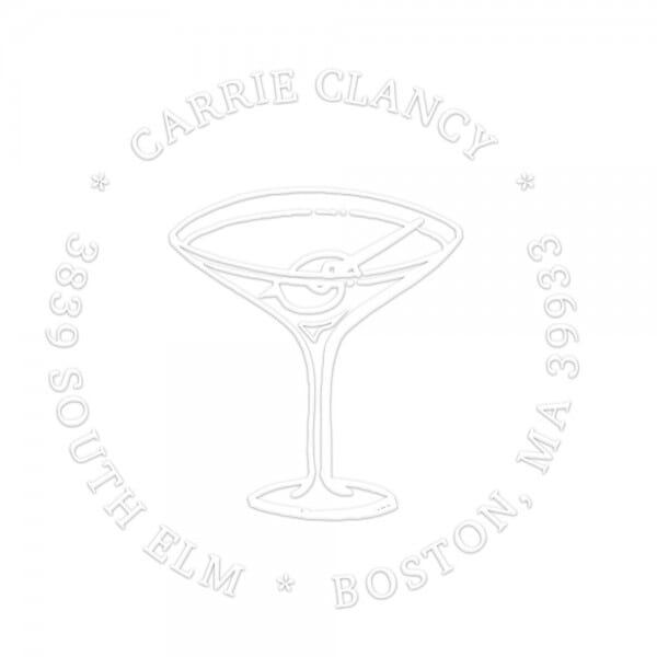 Monogramm-Prägezange 51 mm rund - Cocktail