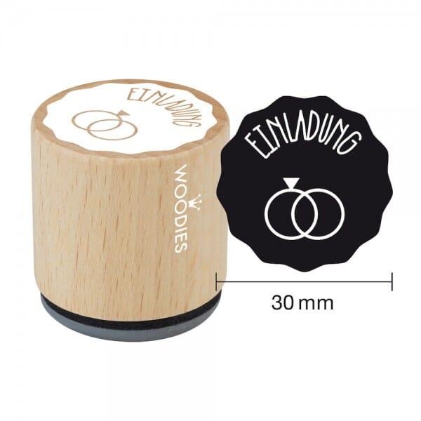 Woodies Stempel - Einladung Ringe W03005