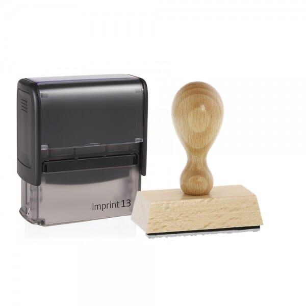 Schülerstempel Holzstempel / Selbstfärber Imprint 13 (57x21 mm  bei Stempel-Fabrik