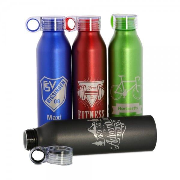 Aluminium Sportflasche (Gravurmaß 12x8 cm)
