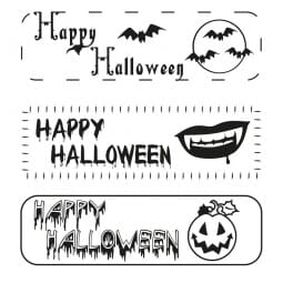 Halloween - Holzstempel (70x20 mm)