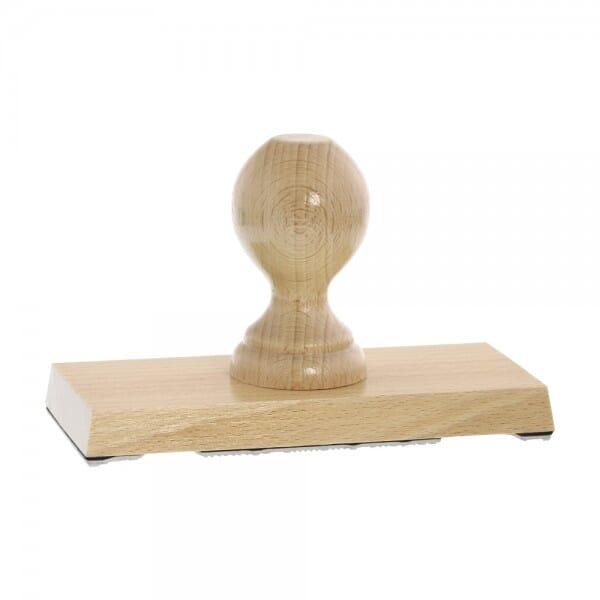 Holzstempel (160x70 mm - 14 Zeilen)