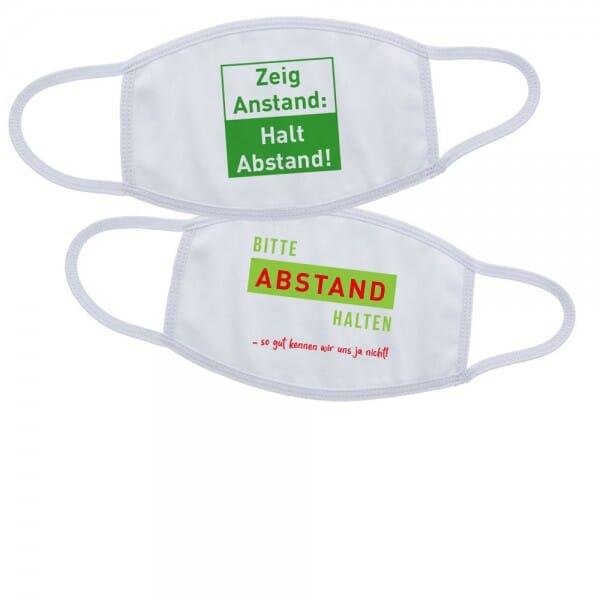 Mund-Nasen Maske / Gesichtsmaske aus Stoff mit individuellem Druck (wiederverwendbar)