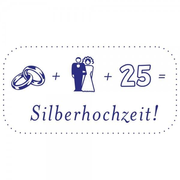 Feierlichkeiten Holzstempel - Silberhochzeit (60x30 mm)