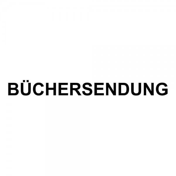 Holzstempel BÜCHERSENDUNG (60x10 mm - 1 Zeile)