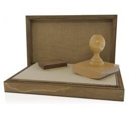 Signier-Stempelkissen aus Holz Nr. 16 (435 x 187 mm)