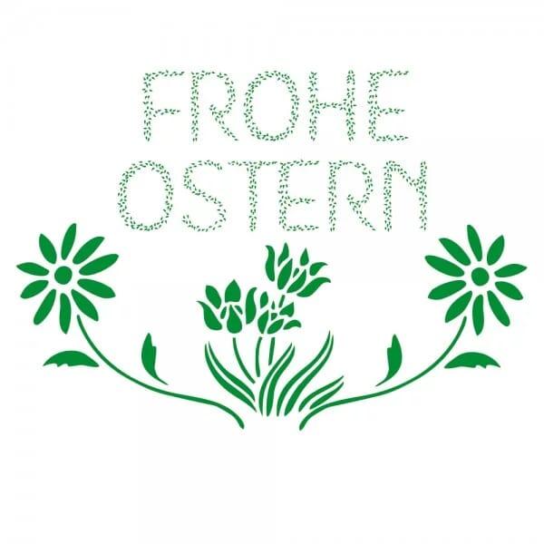 Ostern Holzstempel - Blumen (40x30 mm)