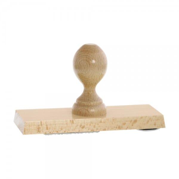 Holzstempel (170x60 mm - 12 Zeilen)
