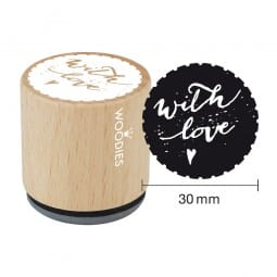 Woodies Stempel - With love Motiv 1