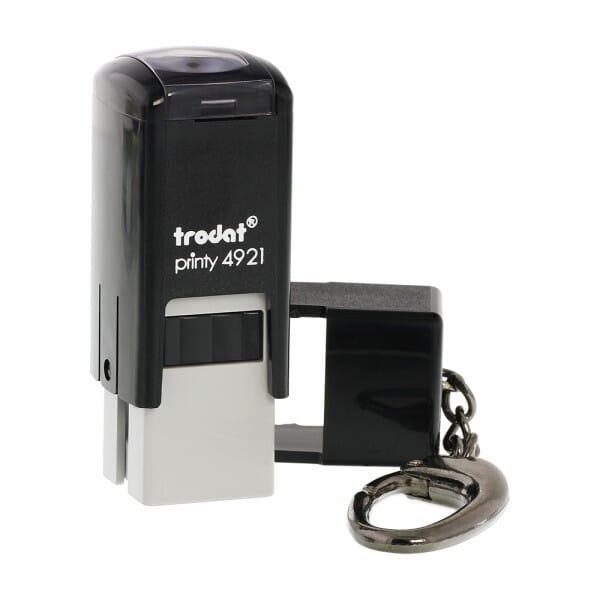 Trodat Printy 4921 mit Schlüsselanhänger (12x12 mm - 2 Zeilen)