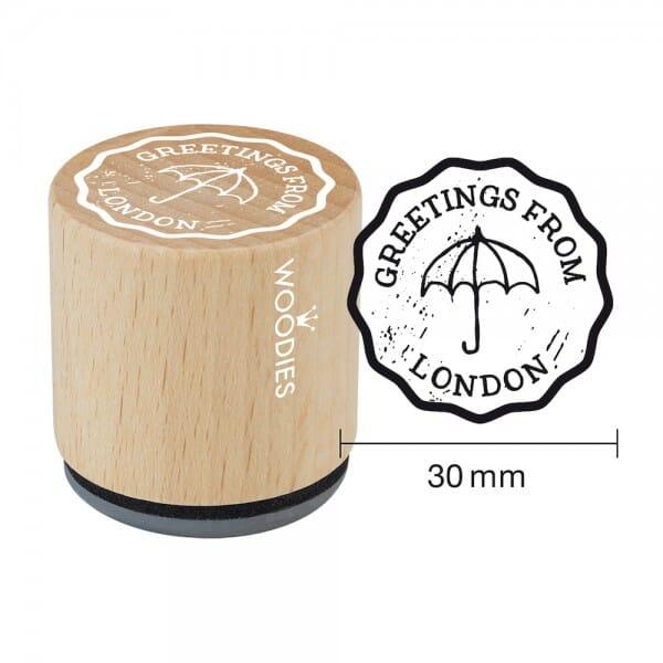 Woodies Stempel - Greetings (Umbrella) bei Stempel-Fabrik