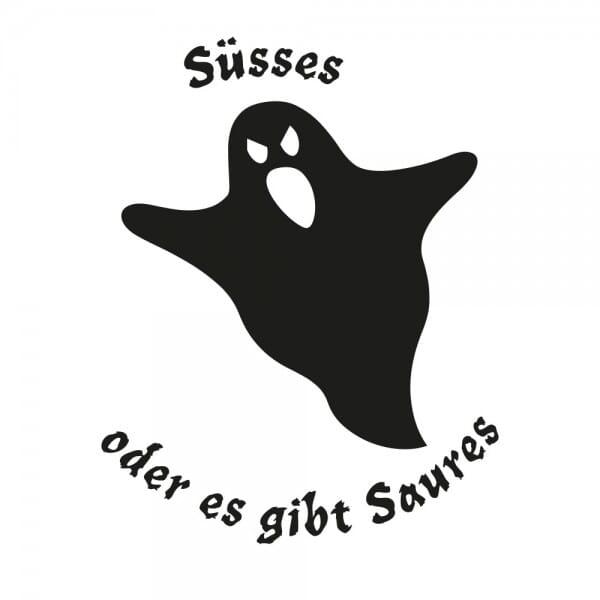 Halloween Holzstempel - Geist (40x30 mm)
