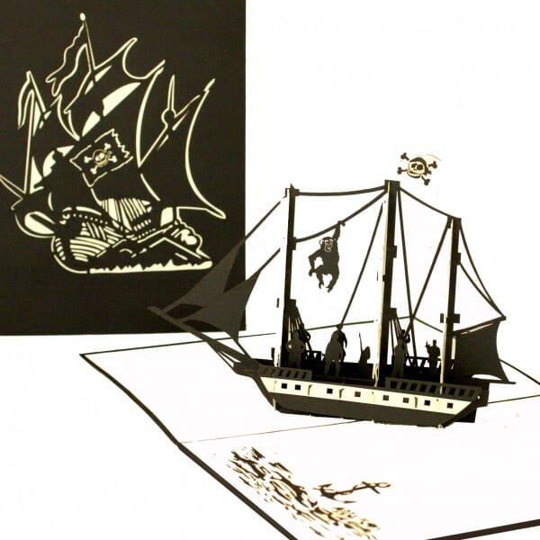 Colognecards Pop-Up Karte Piratenschiff