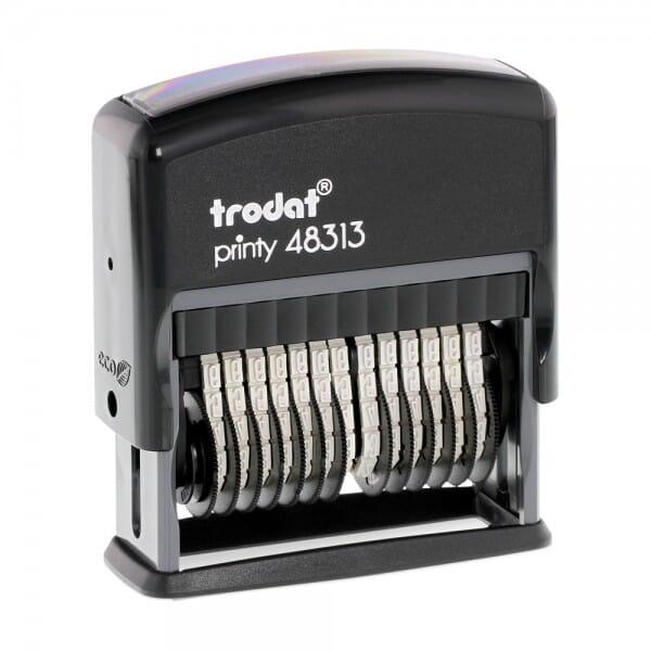 Trodat Printy 48313 Ziffernbänderstempel (SH 3,8 mm - 13 Stellen bei Stempel-Fabrik