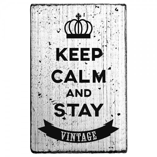 "Vintage Stempel ""Keep calm and stay vintage"""