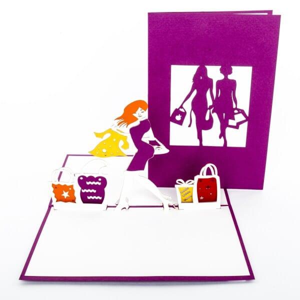 Colognecards Pop-Up Karte Shopping