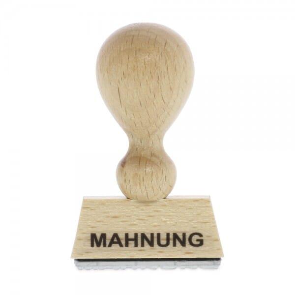 Holzstempel MAHNUNG (40x10 mm - 1 Zeile) bei Stempel-Fabrik