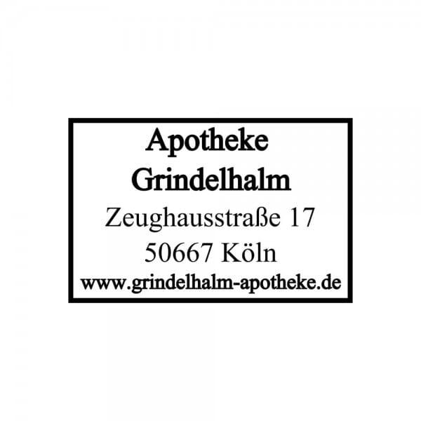 Holzstempel (30x20 mm - 5 Zeilen)