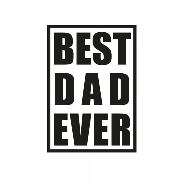 Vatertag Holzstempel - BEST DAD EVER (60x30mm)