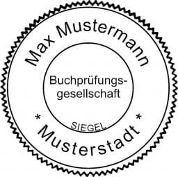 Siegelstempel Buchprüfungsgesellschaft (ø50 mm)