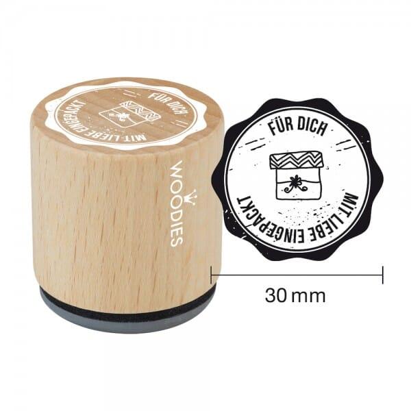 Woodies Stempel - Für Dich mit Liebe eingepackt W07008