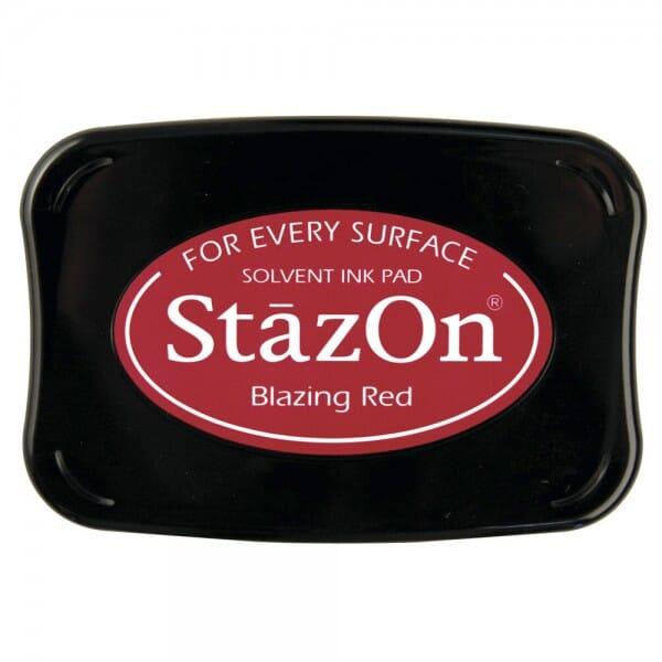 Tsukineko - Blazing Red Stazon Stempelkissen (7.5 x 4.5 cm)