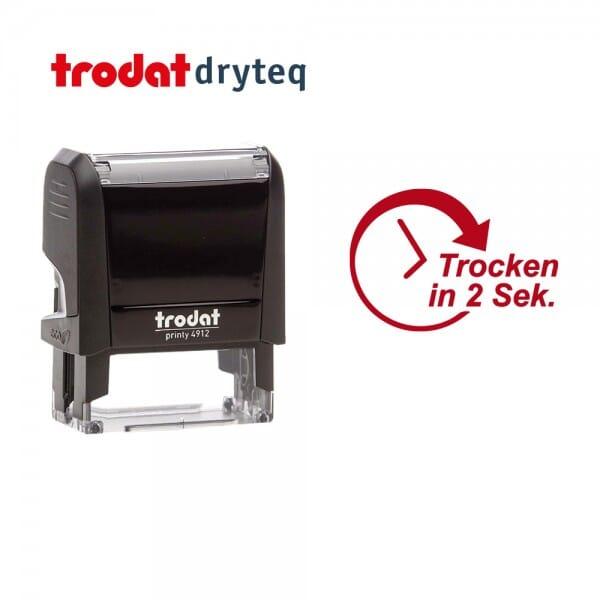Trodat dryteq Multi-Oberflächen Textstempel 4912 (47x18 mm - 1 Ersatzkissen)
