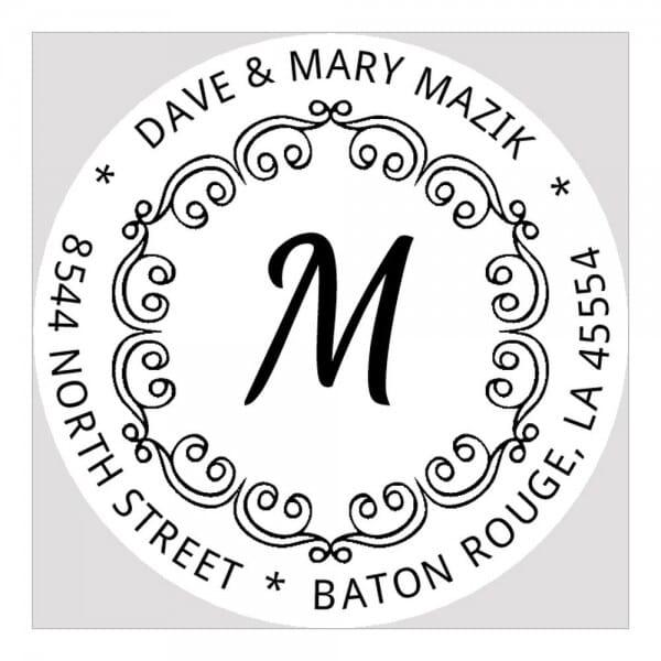 Monogramm-Prägezange rund - Dekorative Initialen