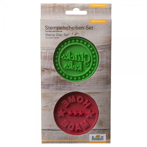 Stempelscheiben Set für Keksstempel - Homemade und Glückskeks ( bei Stempel-Fabrik