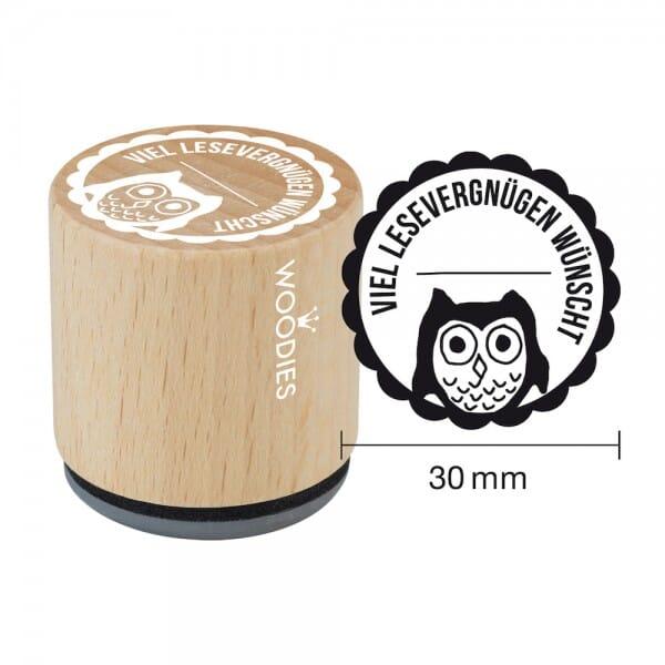 Woodies Stempel - Viel Lesevergnügen wünscht bei Stempel-Fabrik