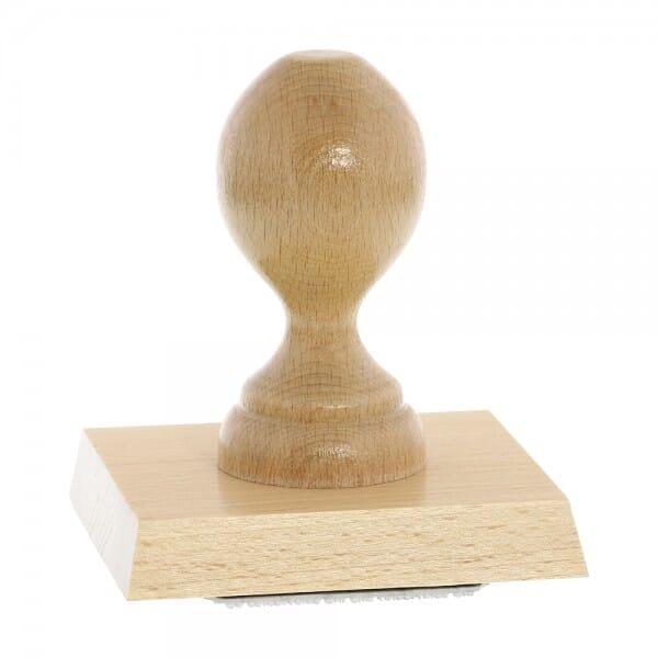 Holzstempel (90x80 mm - 16 Zeilen)