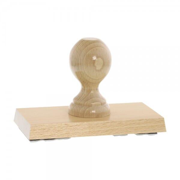 Holzstempel (150x80 mm - 16 Zeilen)