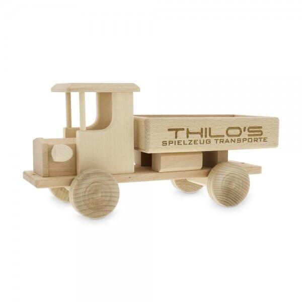 Spielzeug Lastwagen aus Holz (Gravurmaß 180x30mm)